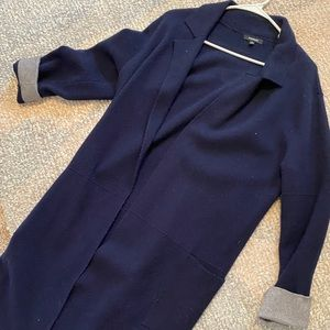 Navy blue premise sweater with pockets